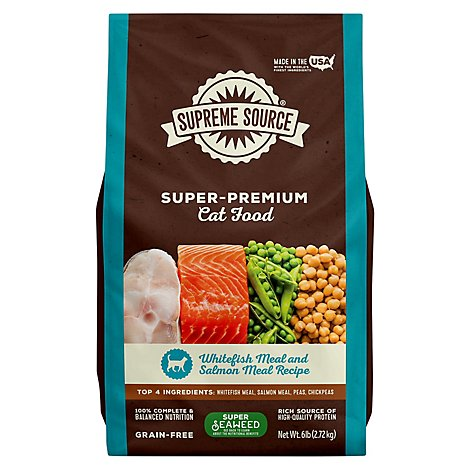 Supreme Source Cat Food Grain Free Adult Whitefish Meal And Salmon - 6 Lb