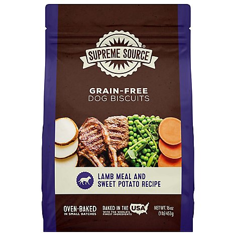 Supreme Source Dog Biscuits Grain Free Lamb Meal And Sweet Potato Poich - 16 Oz