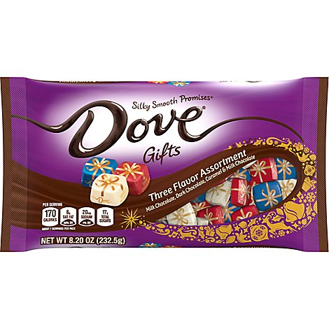 Dove Promises Chocolate Candy Holiday Gifts Three Flavor Assortment - 8.2 Oz
