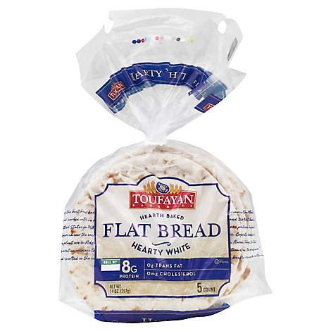 Tf Flat Bread White Med - Each