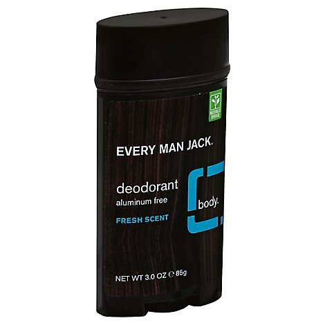 Every Man Jack Body Deodorant Fresh Scent - 3 Oz