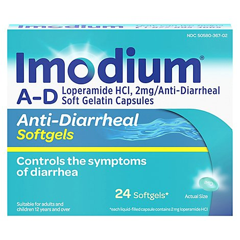 Imodium Anti-Diarrheal Softgels - 24 Count