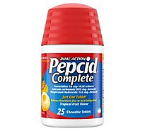 Pepcid Complete Chews Tropical Fruit Tablets - 25 Count