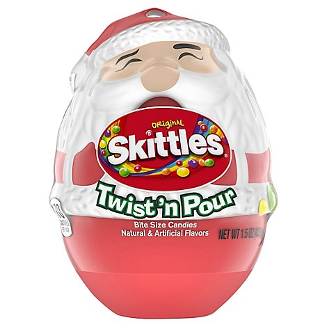 Skittles Candy Christmas Original Santa Twist n Pour - 1.5 Oz