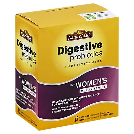 Nature Made Digestive Probiotic With Multi Vitamins - 60 Count