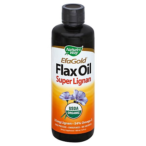 Natures Way Flax Oil Super Lignan - 16 Oz