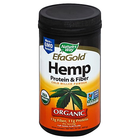 Natures Way Hemp Protein And Fiber - 16 Oz