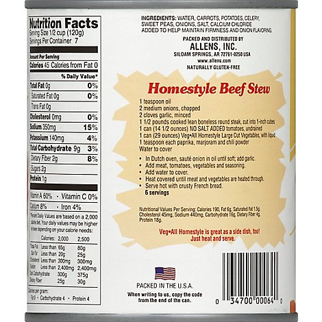 Veg All Vegetables Large Cut Homestyle - 29 Oz