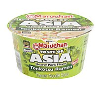 Maruchan Taste of Asia Ramen Noodle Soup Tonkotsu Hearty Pork Flavor Bowl - 3.37 Oz