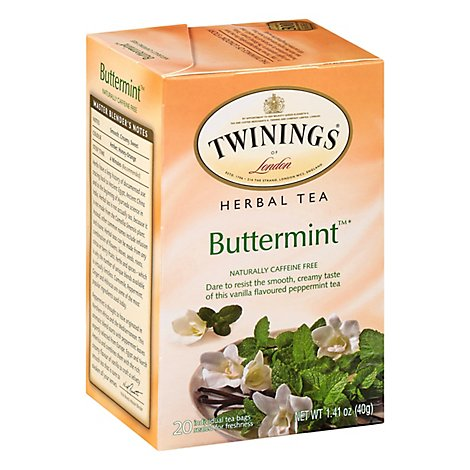 Twinings of London Herbal Tea Caffeine Free Buttermint - 20 Count