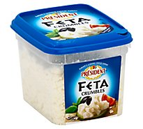 President Feta Plain Crumbled - 12 Oz