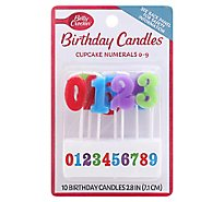 Betty Crocker Candles Cupcake Numbers 0 To 9 - 10 Count