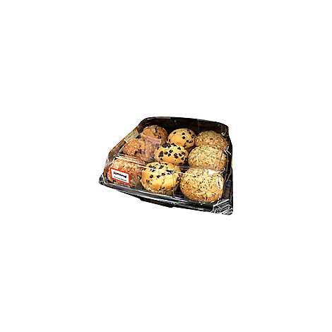 Bakery Muffins 9 Count Assorted Blueberry Double Dutch Almond - Each