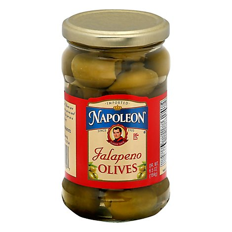Napoleon Olives Stuffed Jalapeno - 6.5 Oz