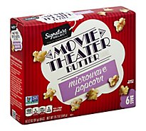 Signature SELECT Microwave Popcorn Movie Theater Butter - 6-3.2 Oz