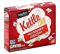 Signature SELECT Microwave Popcorn Ketlle Corn - 6-3.2 Oz