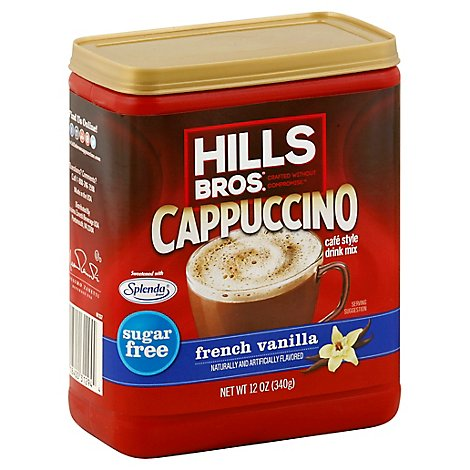 Hills Brothers. Cappuccino Drink Mix Sugar Free French Vanilla - 12 Oz