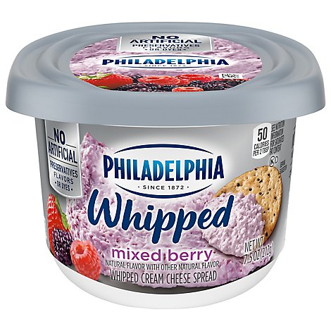 Philadelphia Cream Cheese Whipped Mixed Berry - 7.5 Oz
