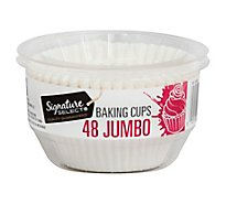 Signature Kitchens Baking Cups Paper Jumbo - 48 Count