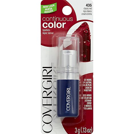 COVERGIRL Continuous Color Lipstick Classic Red 435 - 0.13 Oz