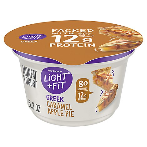Dannon Light & Fit Yogurt Greek Nonfat Caramel Apple Pie - 5.3 Oz