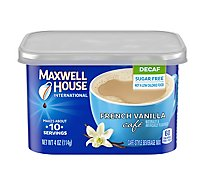 Maxwell House International Beverage Mix Cafe-Style Sugar Free French Vanilla Cafe Decaf - 4 Oz