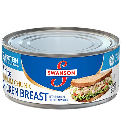 Swanson Chicken Breast Premium Chunk White - 9.75 Oz