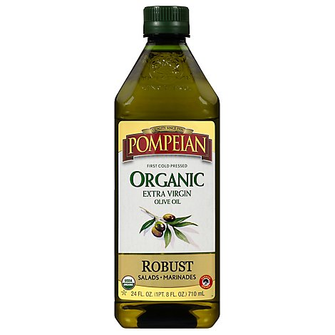 Pompeian Olive Oil Organic Extra Virgin Full-Bodied Flavor - 24 Fl. Oz.