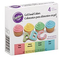 Wilton Food Colors Gel Pink Yellow Green Blue - 1.2 Fl. Oz.