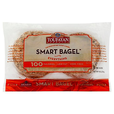 Toufayan Evrythng Smrt Bagel - 9.5 Oz