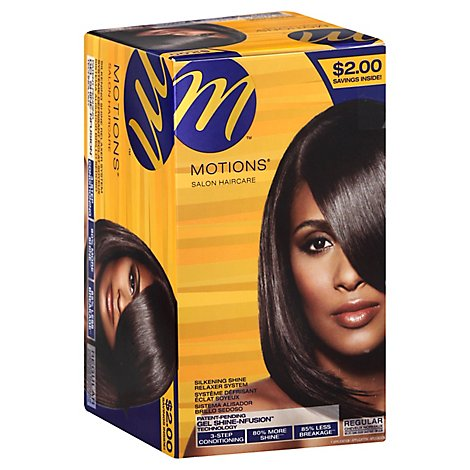 Motions Salon Haircare Relaxer System Silkening Shine Regular - Each