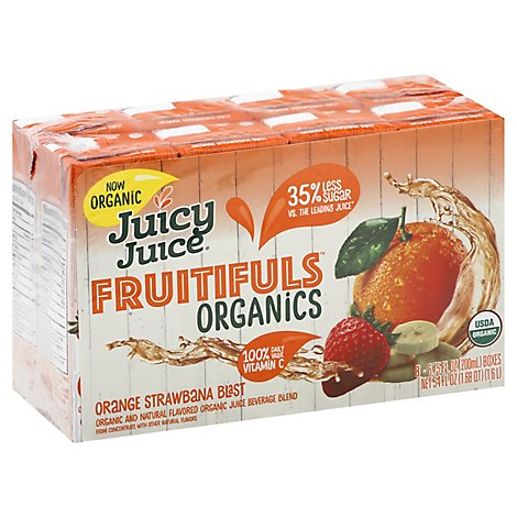 Juicy Jce Ftful Org Strw 8pk - 8-6.7 Fl. Oz.