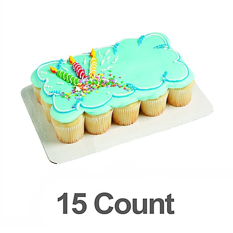 Bakery Cupcake Cake 15 Count - Each