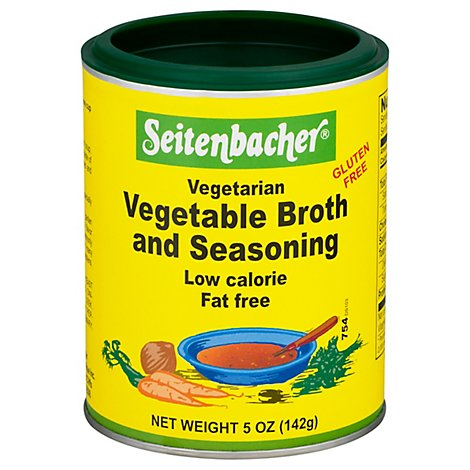 Seitenbacher Vegetarian Vegetable Broth And Seasoning Low Calorie - 5 Oz