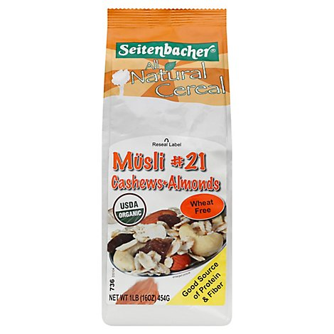 Seitenbacher Cereal Musli 21 Cashews & Almonds - 16 Oz