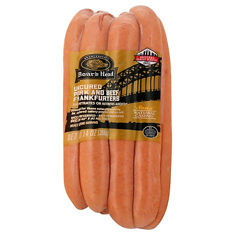 Boars Head Pork & Beef Frankfurters - 14 Oz