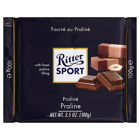 Ritter Sport Dark Chocolate WithMarzipan - 3.5 Oz