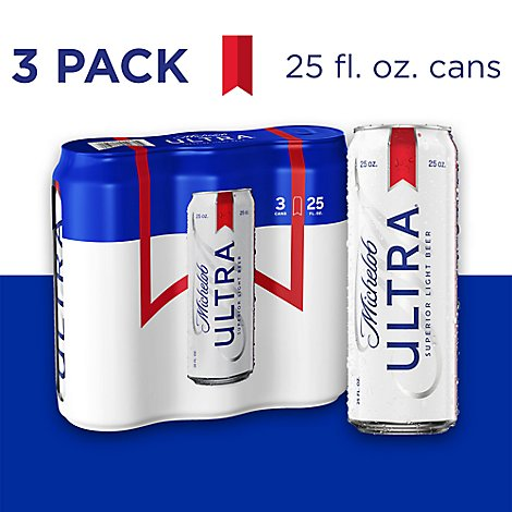 Michelob Ultra In Cans - 3-25 Fl. Oz.