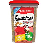 Temptations Treats for Cats MixUps Backyard Cookout Chicken Liver & Beef Flavors Tub - 16 Oz