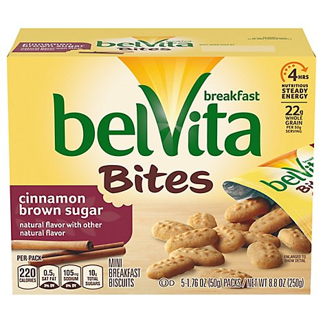 belVita Bites Breakfast Biscuits Cinnamon Brown Sugar - 8.8 Oz