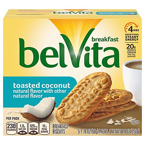 belVita Breakfast Biscuits Toasted Coconut - 5-1.76 Oz