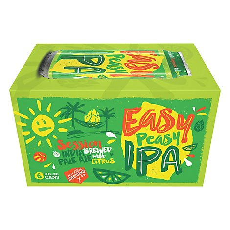 Deep Ellum Easy Peasy Ipa In Cans - 6-12 Fl. Oz.
