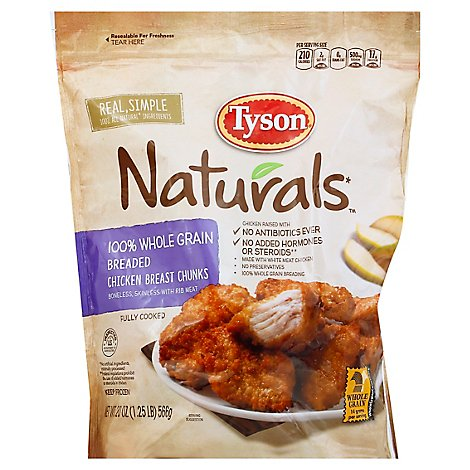 Tyson Naturals 100% Whole Grain Breaded Chicken Breast Chunks - 20 Oz