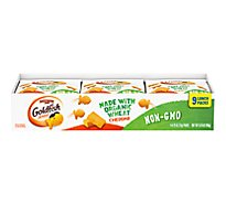 Pepperidge Farm Goldfish Crackers Baked Snack Organic Wheat Cheddar Multipack - 9-1 Oz