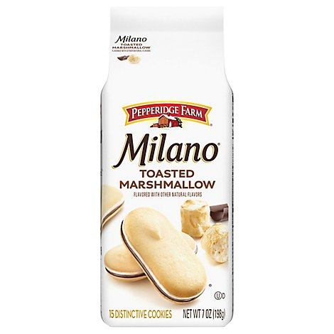 Pepperidge Farm Milano Cookies Distinctive Toasted Marshmallow - 7 Oz