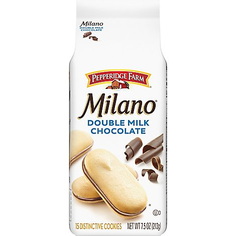 Pepperidge Farm Milano Cookies Distinctive Double Milk Chocolate - 7.5 Oz