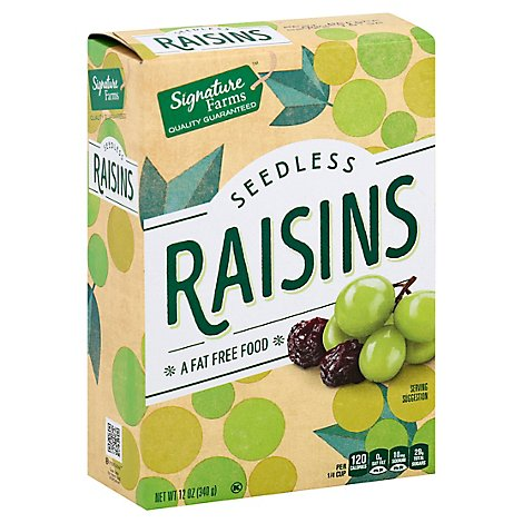 Signature Farms Raisins Seedless - 12 Oz