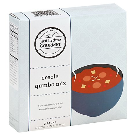 Just in Time Gourmet Gumbo Mix Creole 2 Count - 4.2 Oz