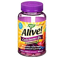 Alive! Supplement Gummies Calcium + D3 - 60 Count