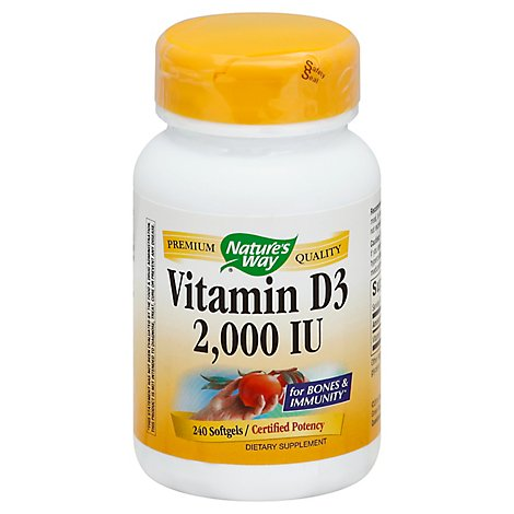 Natures Way Vit D3 2000 Iu - 240 Count